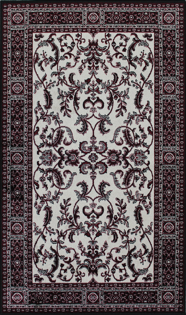 Art. Silk Florence Ivory/Red Rug