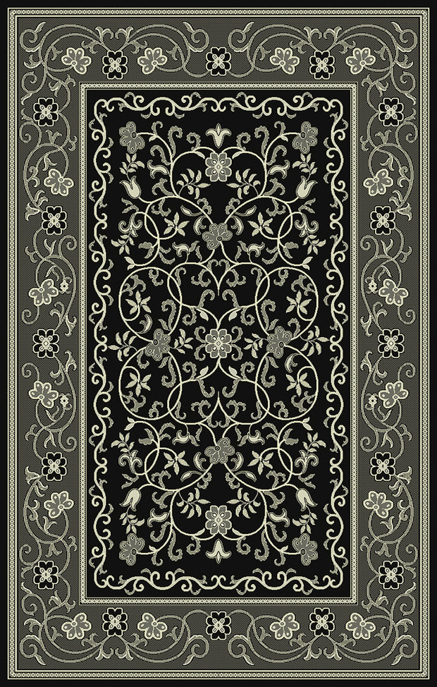 Art. Silk Heritage Black Rug