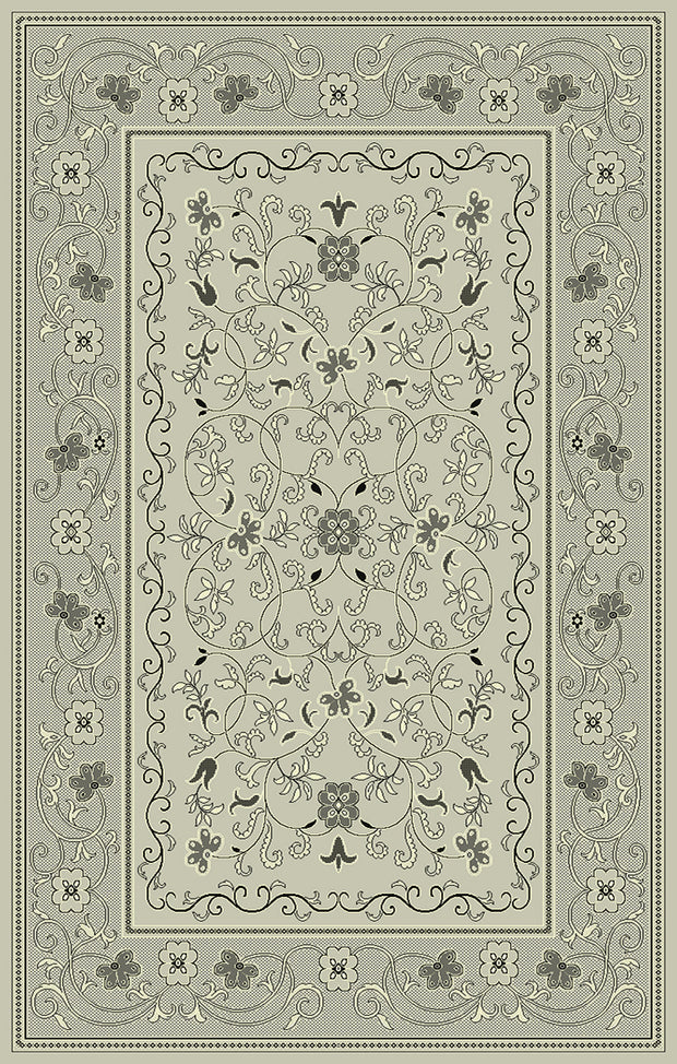 Art. Silk Heritage Gray Rug