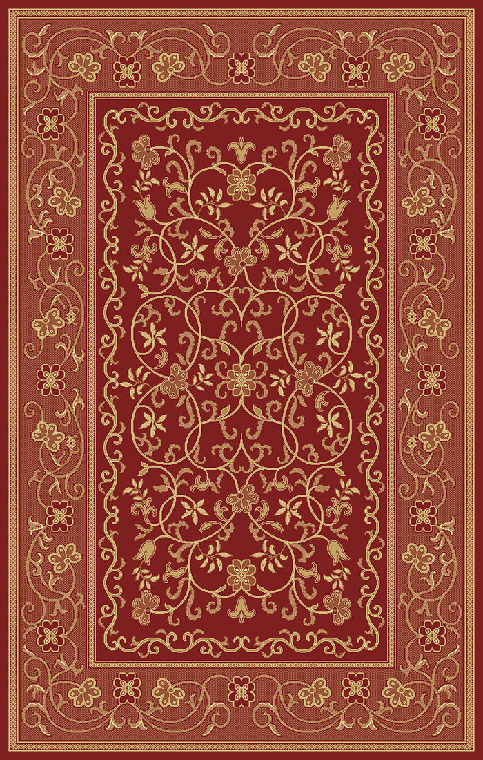 Art. Silk Heritage Cranberry Rug