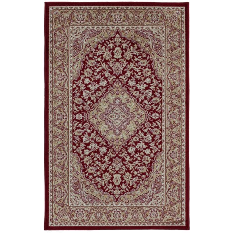 Art. Silk Kirman Red Rug