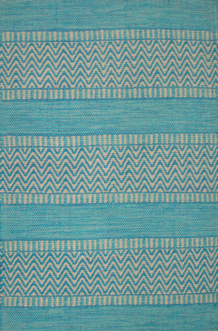 Largo Aqua Dhrurrie Cotton Area Rug