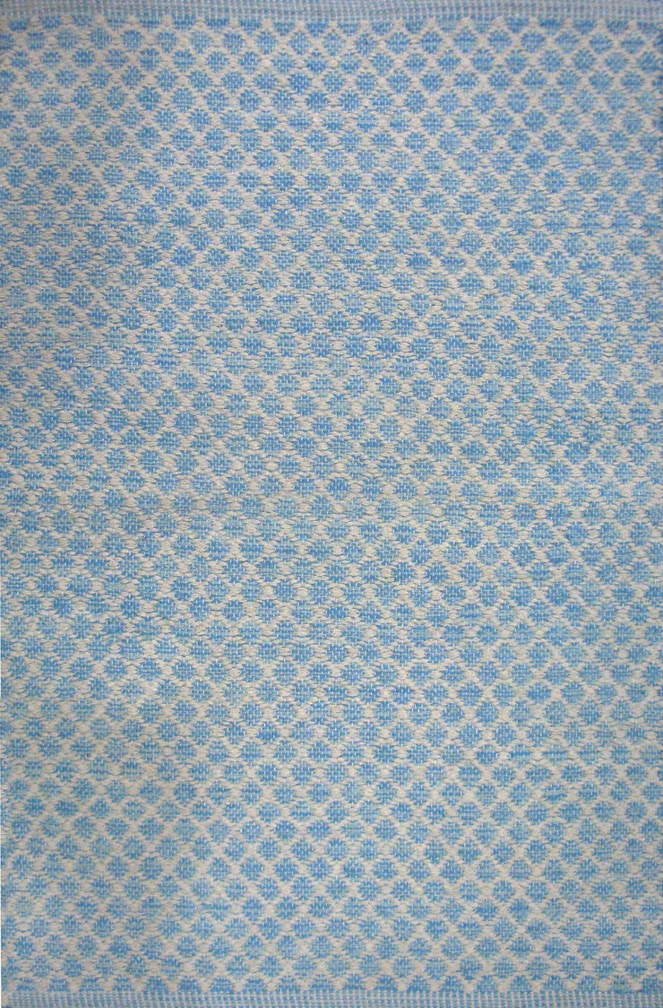 Maywood River Blue Dhrurrie Cotton Area Rug