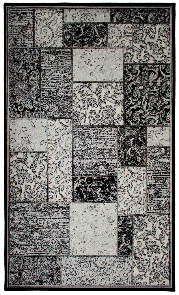 Art. Silk Marble Black/Gray Rug