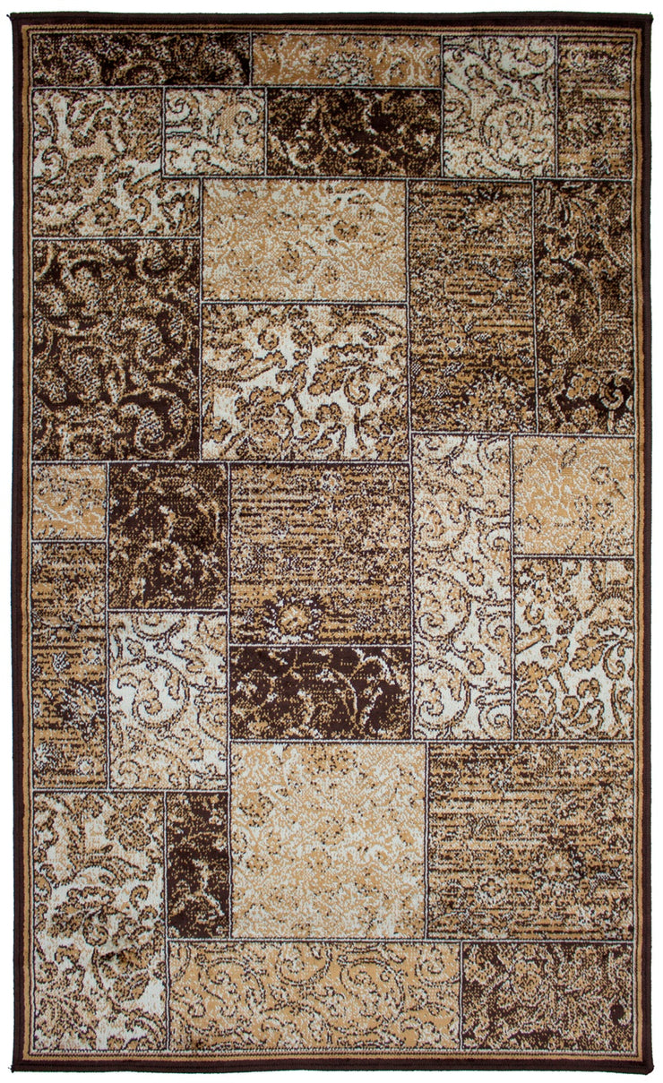 Art. Silk Marble Brown Rug