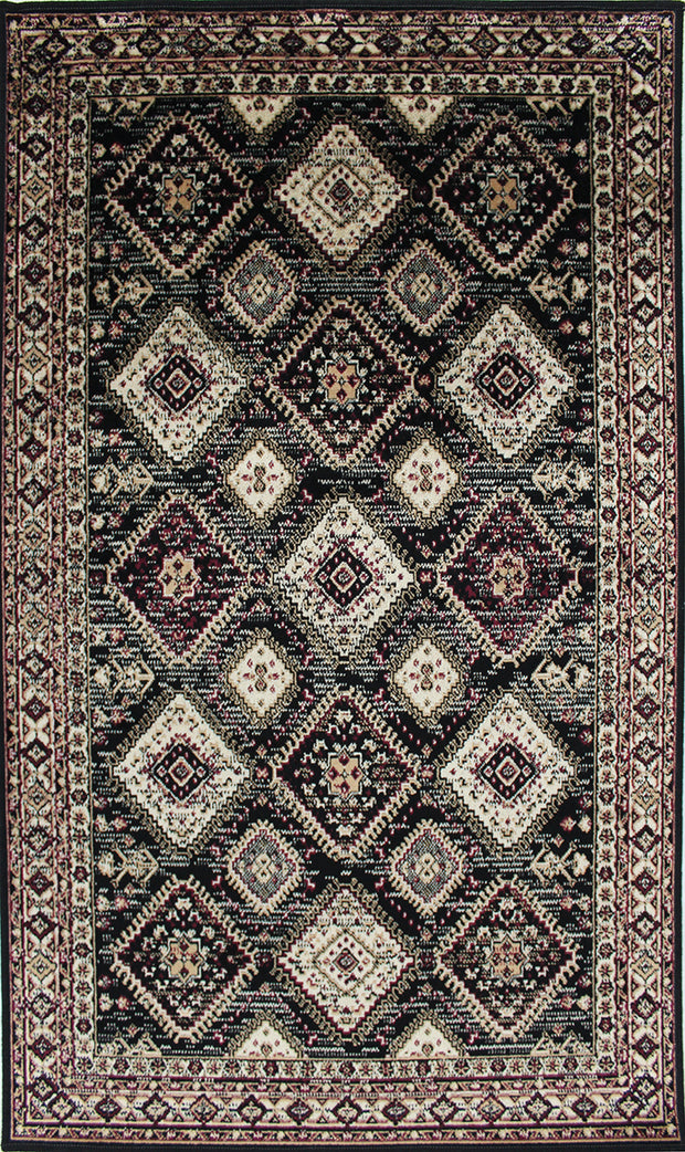 Art. Silk Maria Black Rug