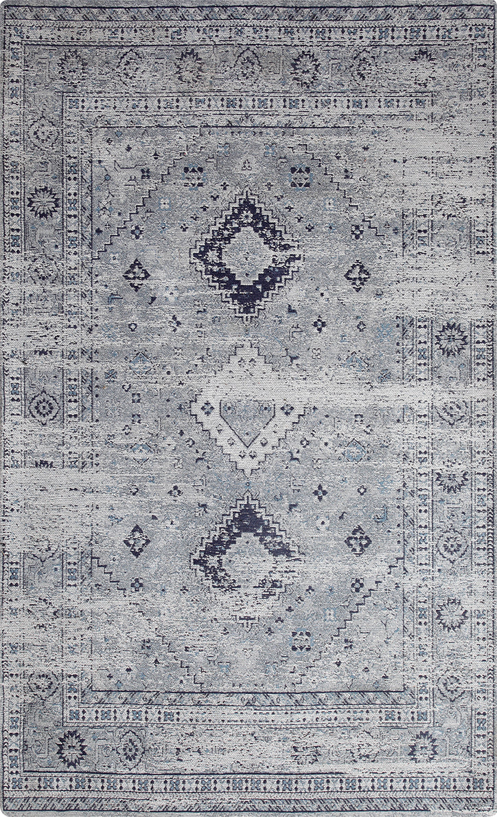 Vintage Marina Denim Blue Area Rug