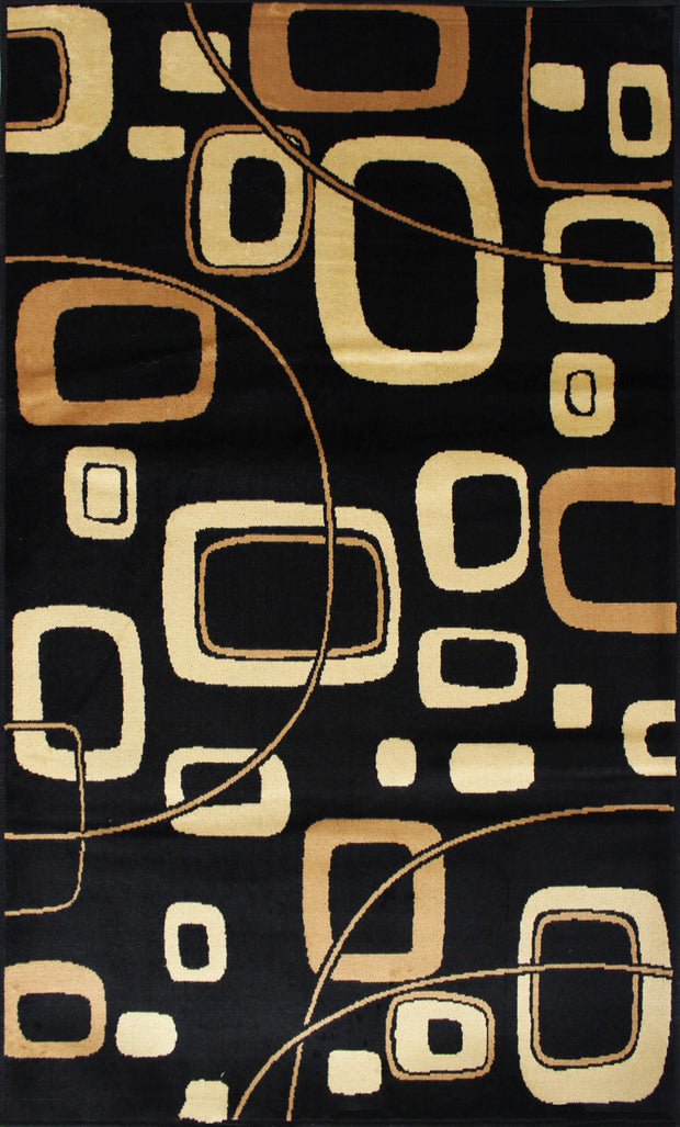 Art. Silk Modani Black/Brown Rug
