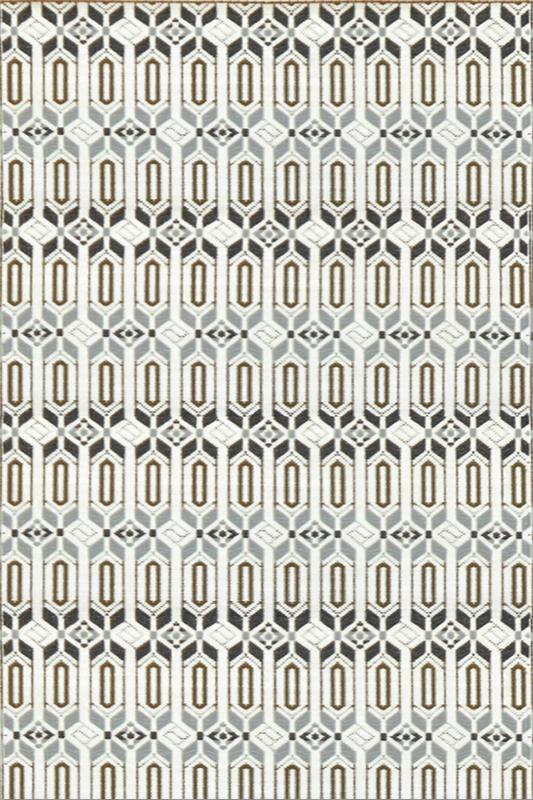 Mad Mats Moroccan Gray White Indoor/Outdoor Mat