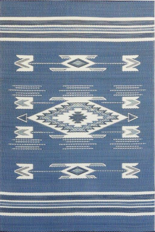 Mad Mats Navajo Blue Indoor/Outdoor Mat