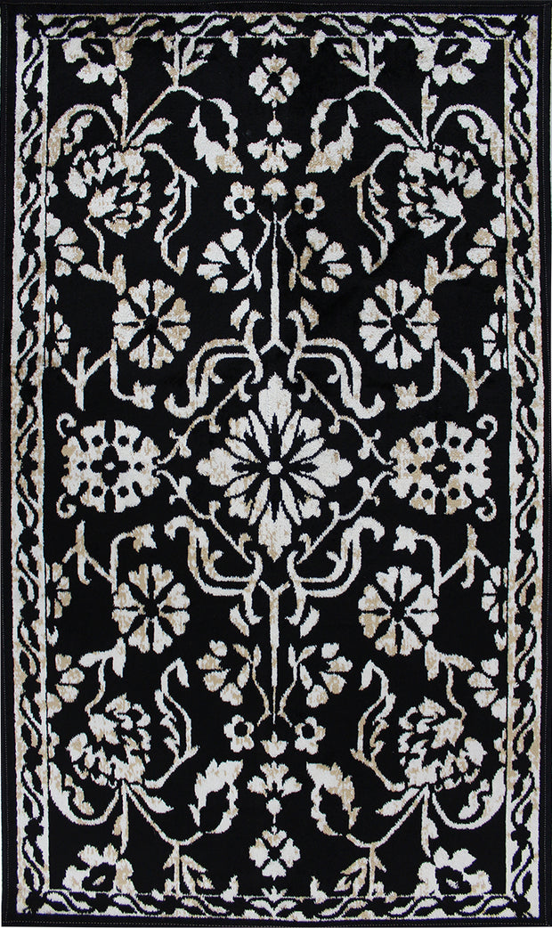 Art. Silk Naya Black Rug