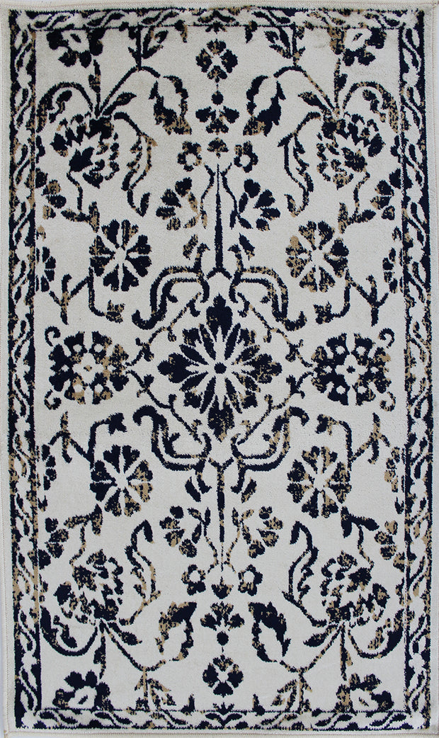 Art. Silk Ivory/Navy Rug
