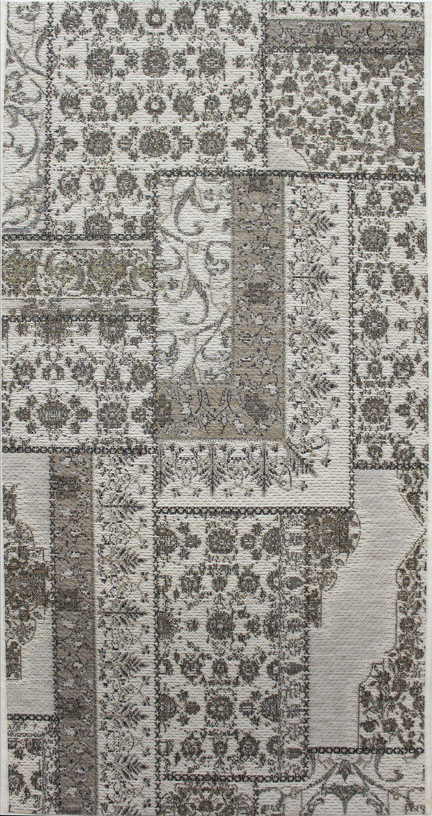 Esterno Patchwork Latte Area Indoor/Outdoor Rug