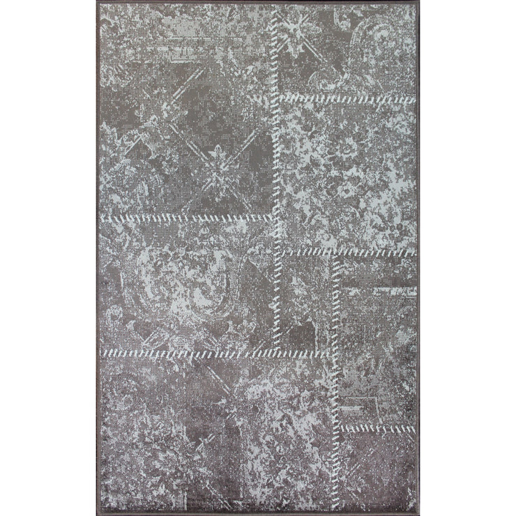 Art. Silk Patchwork Taupe Rug
