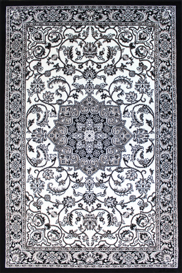 Persian Black & White Rug