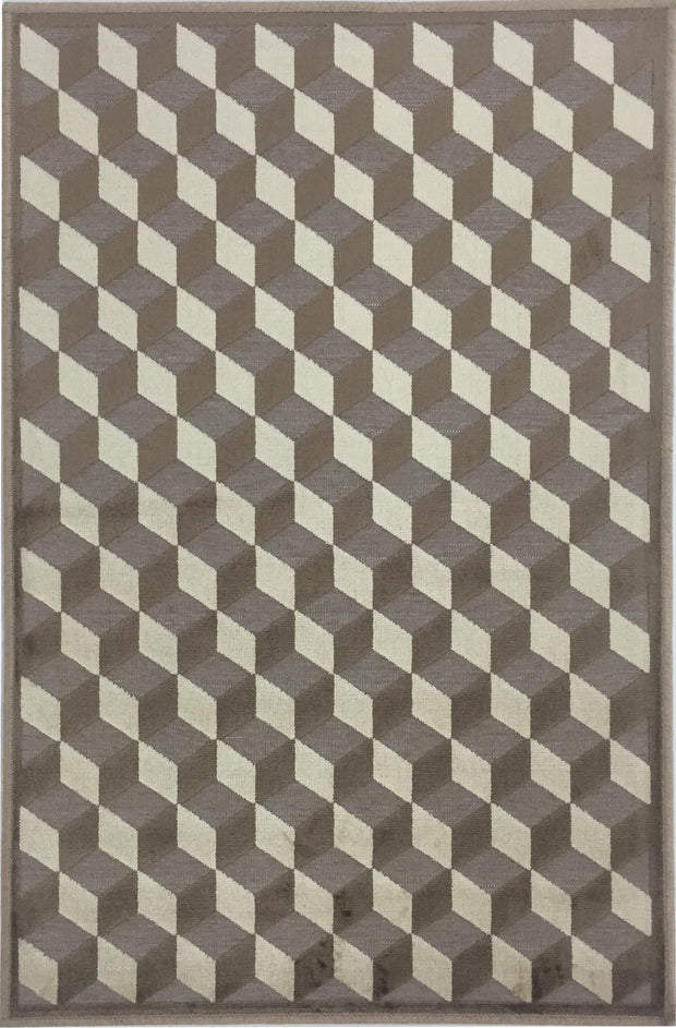 Valentine Piazza Tan/Taupe Area Rug
