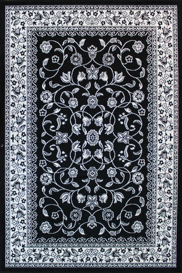 Sarook Black & White Rug