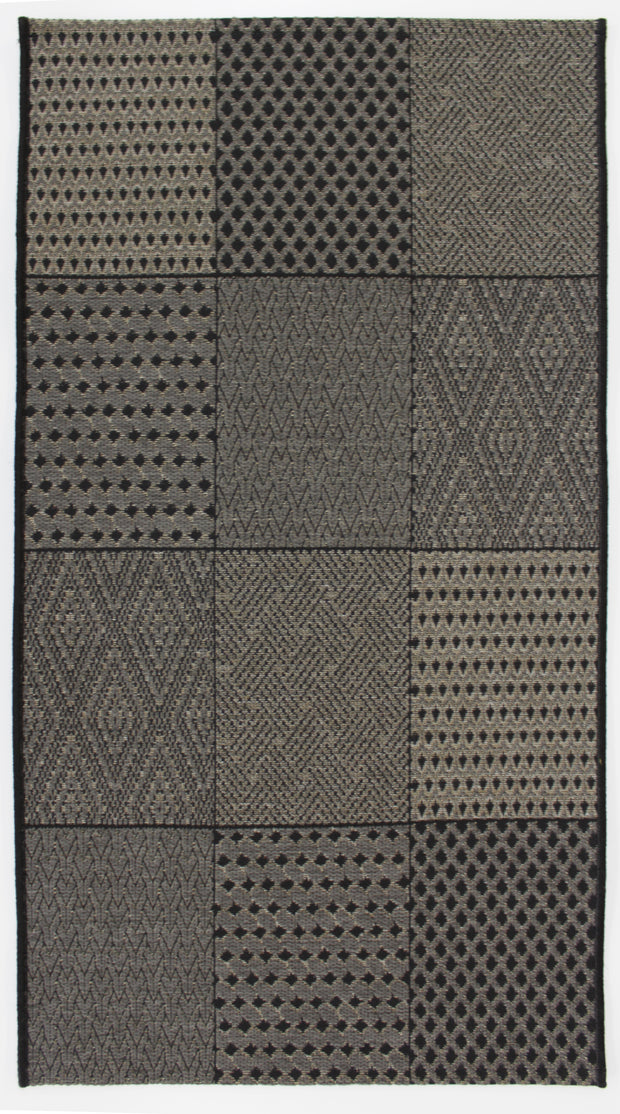 Esterno Squarely Gray-Oyster Indoor/Outdoor Area Rug