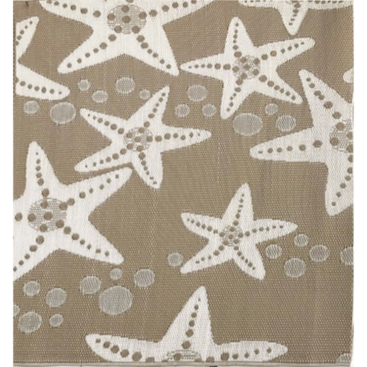 Mad Mats Starfish Modern Taupe  Indoor/Outdoor Mat