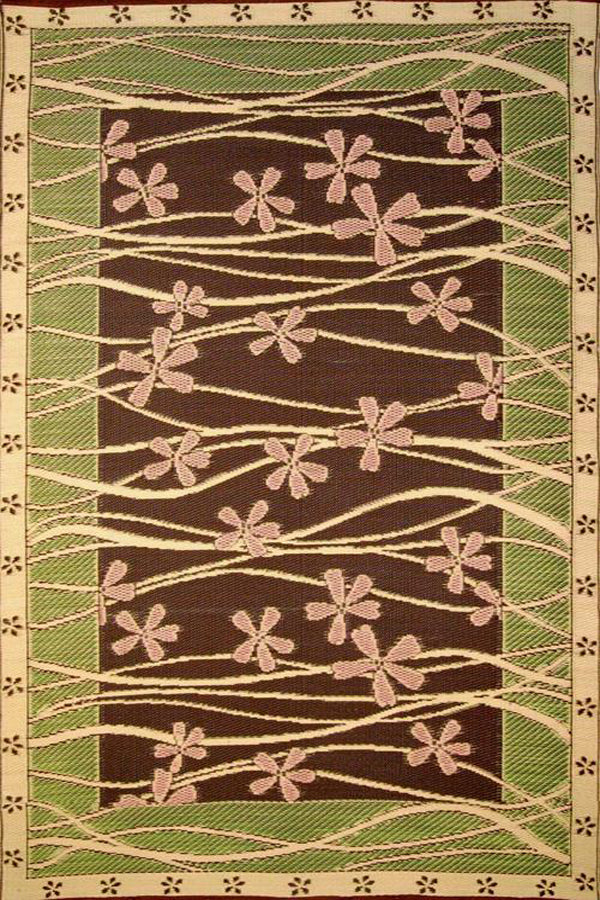 Mad Mats Tall Grass Brown/Pink ndoor/Outdoor Mat