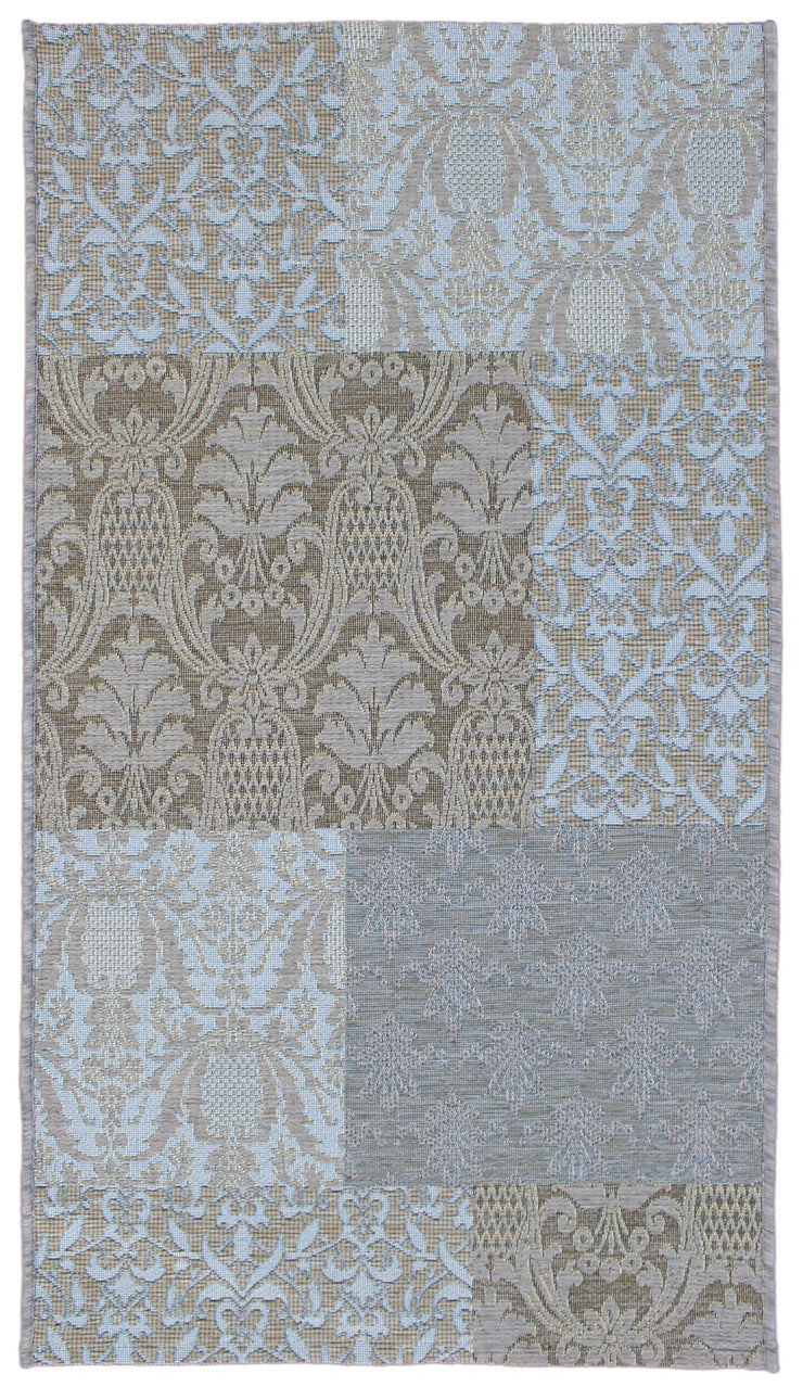 Esterno Tapestry Blue Indoor/Outdoor Area Rug
