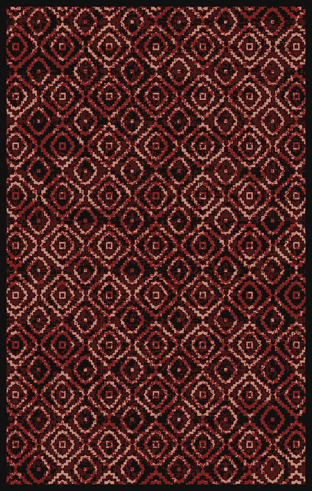 Art. Silk Trello Cranberry/Black Rug