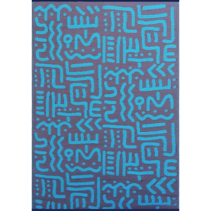 Mad Mats Tribal Turquoise Indoor/Outdoor Mat
