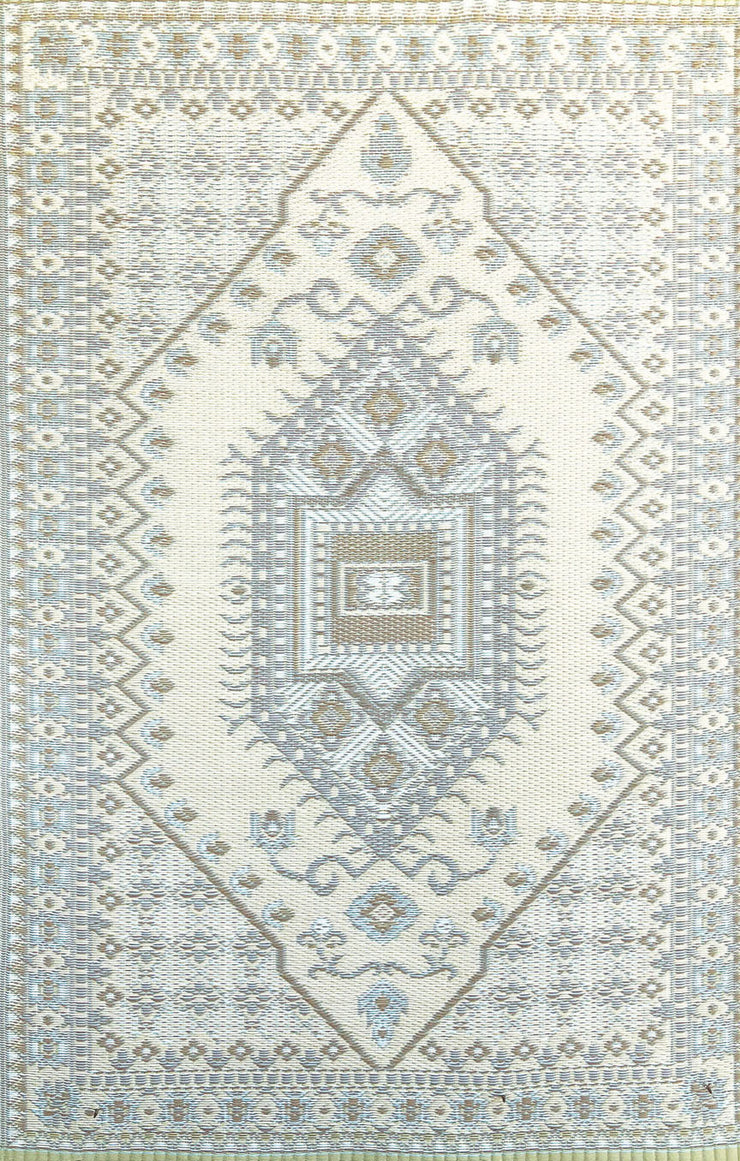 Mad Mats Oriental Turkish Pastel Silver Indoor/Outdoor Mat