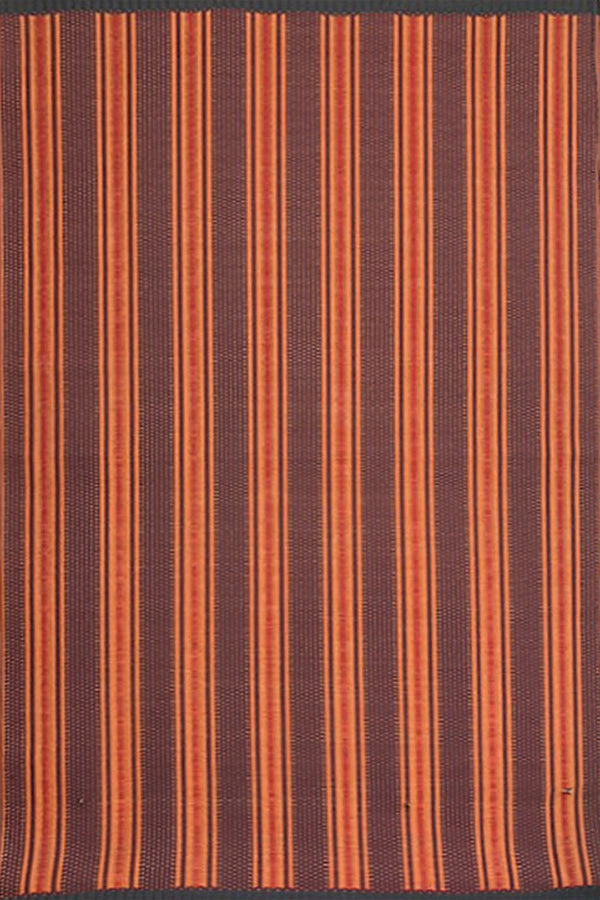 Mad Mats Vertical Stripe Rust Indoor/Outdoor Mat