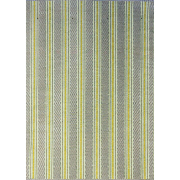 Mad Mats Vertical Stripe Gray Yellow  Indoor/Outdoor Mat