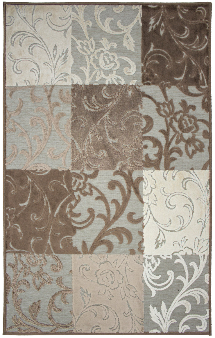 Valentine Vine Brown/Ochre Area Rug