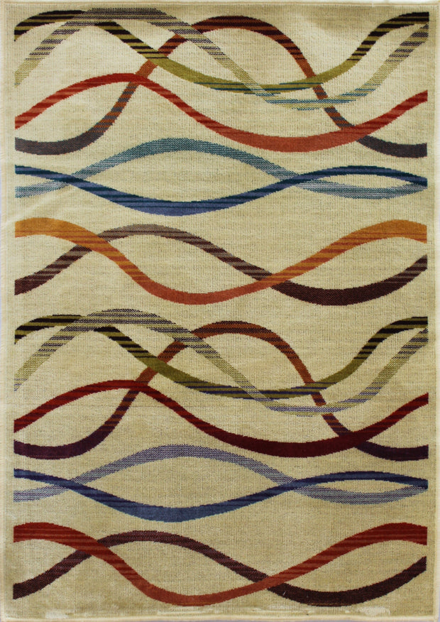 Art. Silk Waves Multi Rug