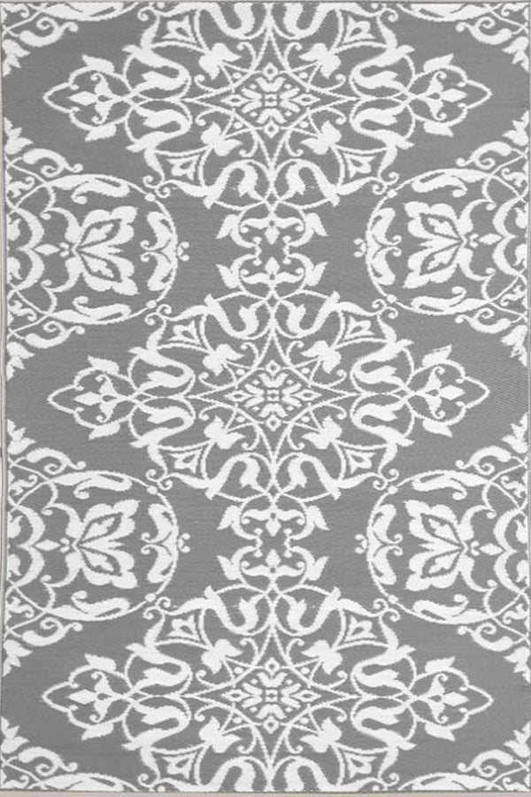 Mad Mats Wrought Iron Cool Silver Indoor/Outdoor Mat