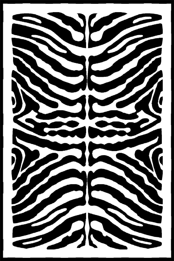 Zebra Black & White Rug