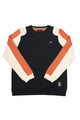 Nathan | Men's Long Sleeve Fancy Knit Crew-neck Fleece