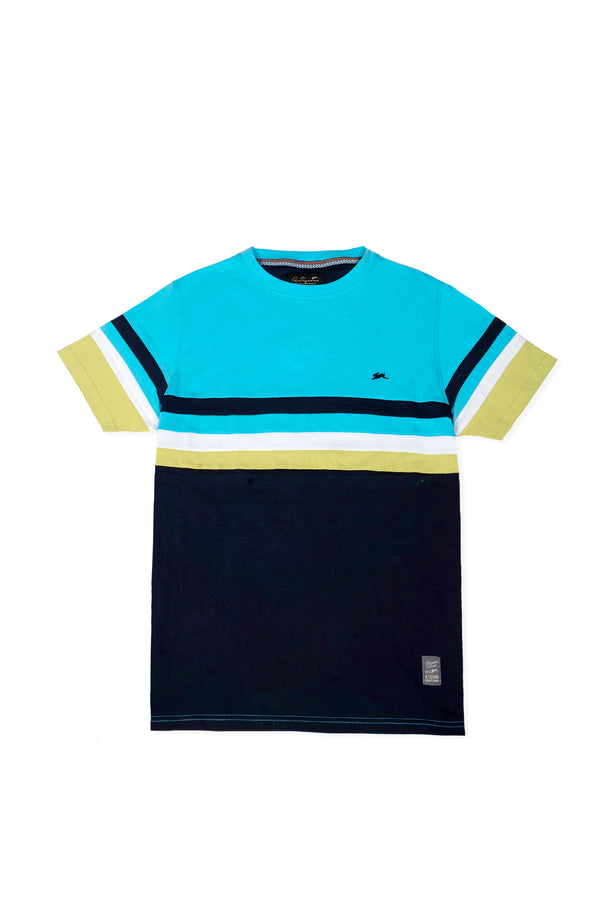 Robin | Men's Short Sleeve Color Block Knit Crew