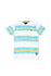 Asher | Men's Short Sleeve Striped Graphic V-neck T-Shirt