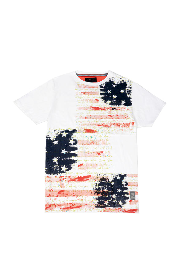 Holden | Men's Short Sleeve Knit with Flag Print