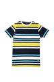 Dominic | Men's Short Sleeve Stripe Knit V-Neck T-shirt
