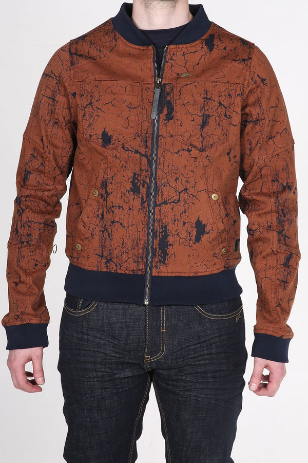 Ian | Men's Printed Cracks Pattern Twill Jacket