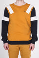 Henry | Men's Crew Neck Color Blocked Fleece Sweater