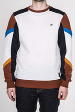 Eric | Men's Crew Neck Color Blocked Fleece Sweater