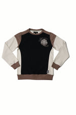 Tyson | Men's Fleece Color Blocked Long Sleeve Crew Neck Pullover