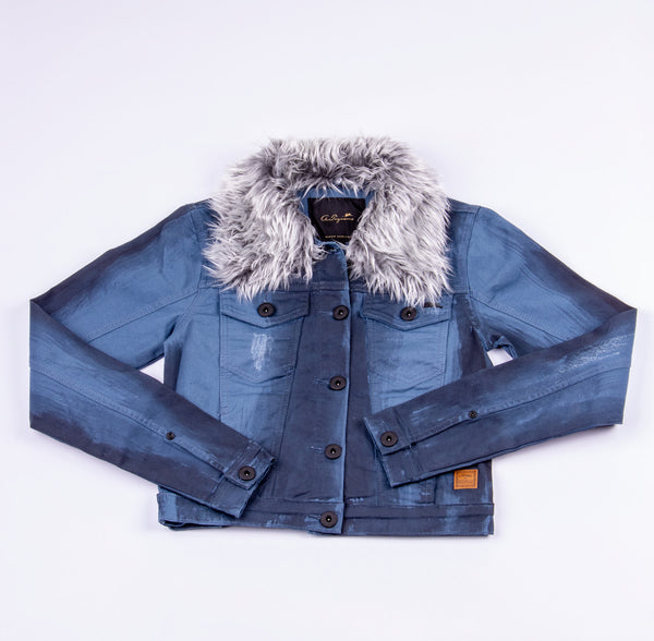 Francesca | Women's Cropped Denim Jacket