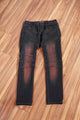 Jeffery | Indigo Jean with Staining
