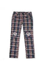 Fred | Plaid Printed Denim Jean