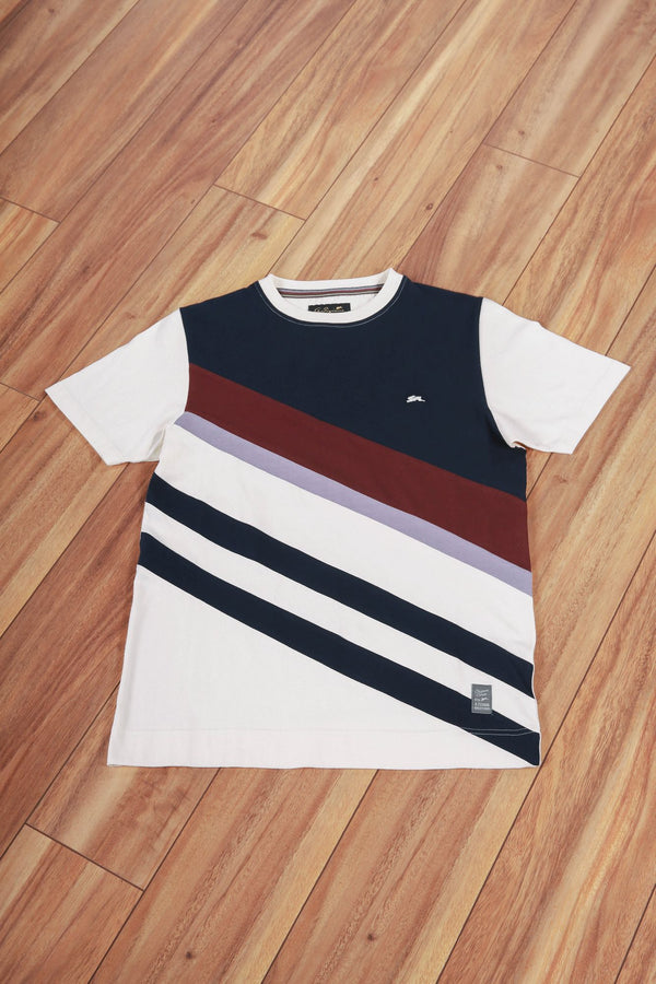 Ricky | Short Sleeve Crewneck Colorblock Tee