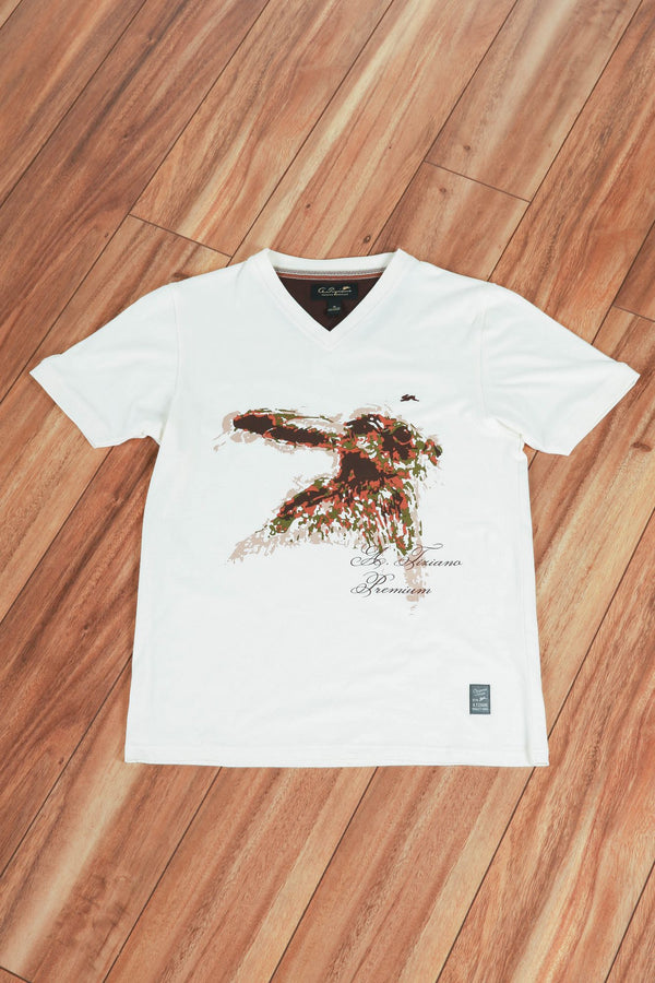 Sorenson | Short Sleeve V-neck Graphic Tee