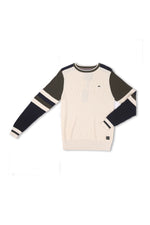Vern | Long Sleeve Crewneck Colorblock Sweater