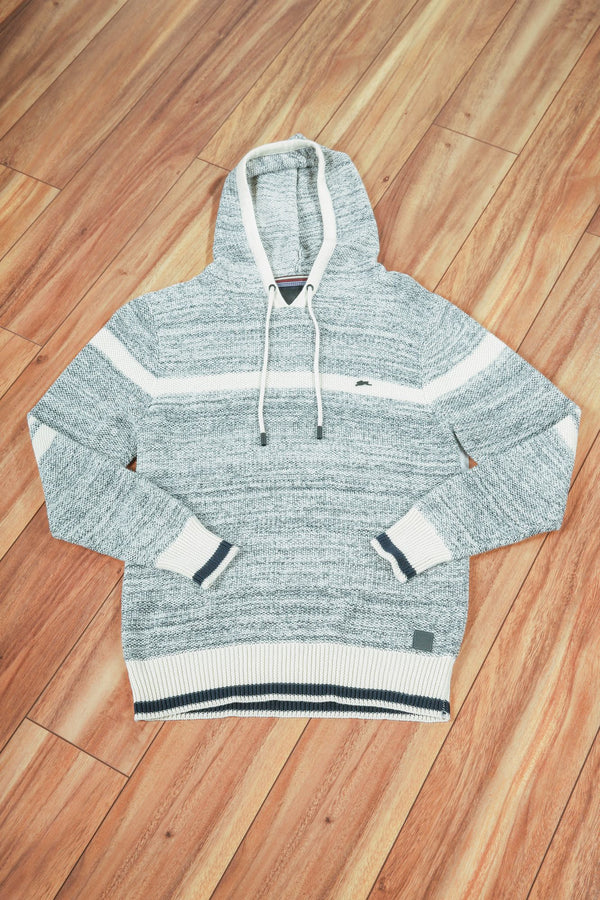 Terry | Long Sleeve Popcorn Stripe Sweater Hoodie